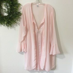 Light Pink Nightgown and Robe